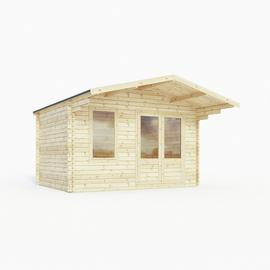 Mercia Wooden 14 x 15ft Single Glazed Retreat Log Cabin