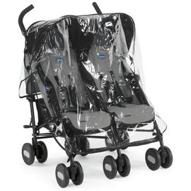 Chicco Echo Double Pushchair - Black Grey