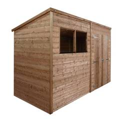 Mercia Wooden 10 x 8ft Shiplap 2 Glazed Window Shed Best Price, Cheapest Prices