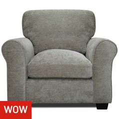 Argos Home Tammy Fabric Armchair - Mink