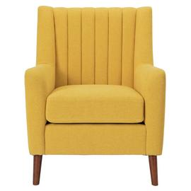 Argos Home Heidi Mid Century Fabric Armchair - Yellow