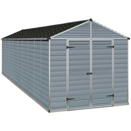 Palram Skylight Plastic 8 x 20ft Shed - Dark Grey