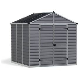 Palram Skylight Plastic 8 x 8ft Shed - Dark Grey Best Price, Cheapest Prices