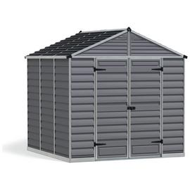 Palram Skylight Plastic 8 x 8ft Shed - Dark Grey