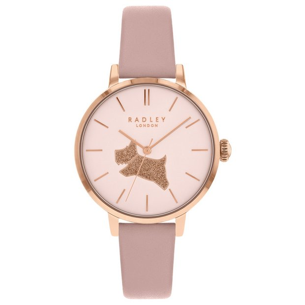 028dd2ea6 Radley Rose Gold Dial Ladies Pink Leather Strap Watch881/8476