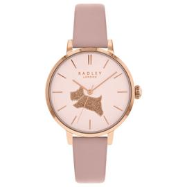 Radley Ladies Pink Leather Strap Watch with Glitter Dial RY2778 Best Price and Cheapest