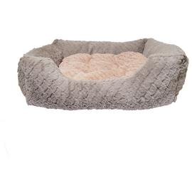 Rosewood Grey and Pink Square Pet Bed - Large