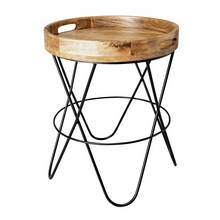 Argos Home Global Monochrome Wooden Table