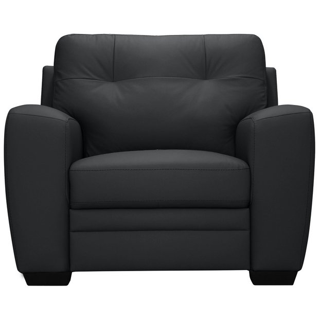 Buy Argos Home Raphael Leather Mix Armchair Black | Armchairs and chairs | Argos