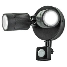 Luceco Twin Black PIR Spotlights