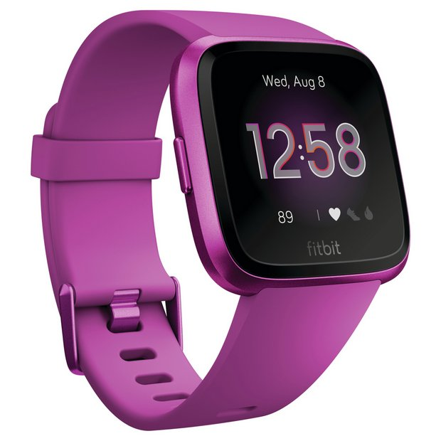 Fitbit Versa Lite Smart Watch - Mulberry