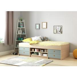 Argos Home Camden Blue & Acacia Cabin Bed