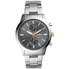 Fossil Men's Townsman Grey Dial and Silver Bracelet Watch