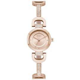 DKNY Rose Gold Coloured Dial Stainless Steel Strap Watch