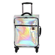 IT Luggage 4 Wheel Holographic Cabin Suitcase