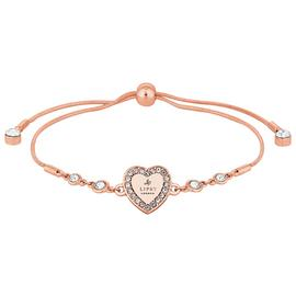 Lipsy Rose Colour Crystal Heart Toggle Bracelet