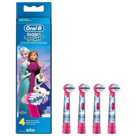 Oral-B Disney Frozen Kids Electric Toothbrush Heads - 4 Pack
