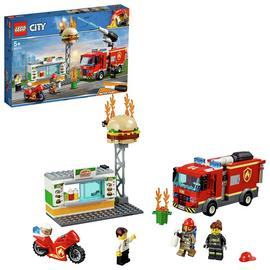 LEGO City Burger Bar Fire Rescue Toy Truck Playset- 60214 Best Price, Cheapest Prices