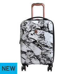 IT Luggage 8 Wheel Marble Effect Suitcase