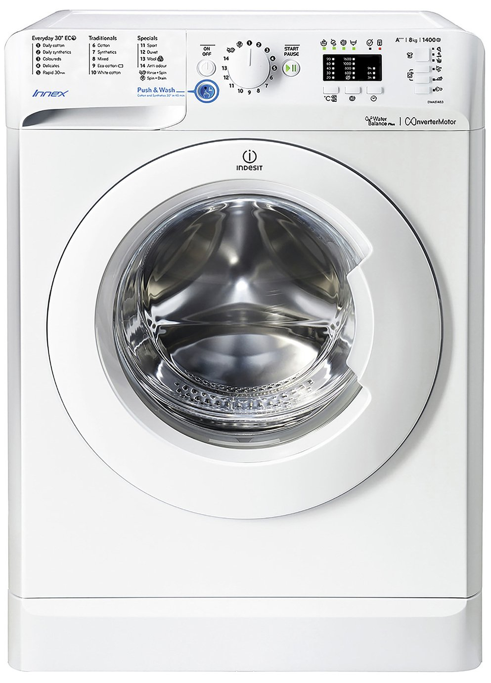 Indesit BWC61452SUK Innex A+ Rated 6Kg 1400 RPM Washing Machine Silver New