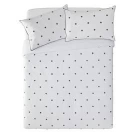 Argos Home Grey Spot Tufted Bedding Set - Double