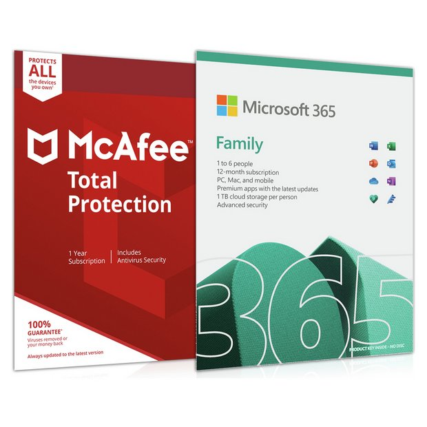 Buy Microsoft Office 365 Home & McAfee Total Protection 6 Device | Laptop  and PC software | Argos
