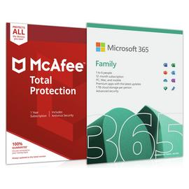 Microsoft Office 365 Home & McAfee Total Protection 6 Device