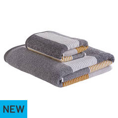 Argos Home 2 Piece Towel Bale - Grey and Mustard 738cd8fe2