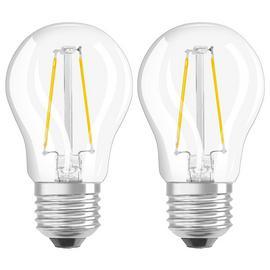 Osram 5W LED Classic ES Globe Bulb - Twin Pack