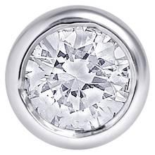 State of Mine Silver Diamond Set Single Stone Circle Stud