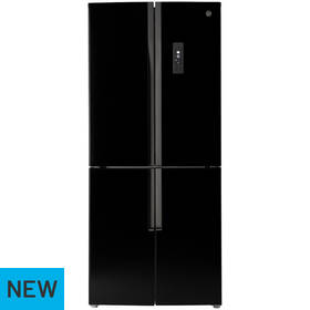 Hoover HFDN180BK American Fridge Freezer - Black
