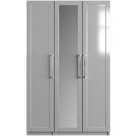 One-Call Colby Gloss 3 Door Mirrored Wardrobe