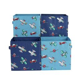 Argos Home Set of 4 Planes Canvas Boxes