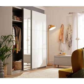 Argos Home Holsted XL Mirrored Sliding Wardrobe - White