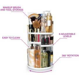 Rio Cosmetic and Brush Storage Carousel