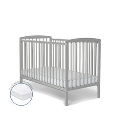 Baby Elegance Starlight Cot with Mattress - Grey