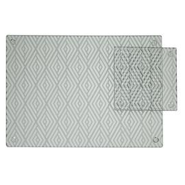 Argos Home Set of 4 Luxe Glass Placemats and Coasters