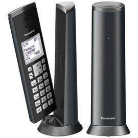 Panasonic KX-TGK222EM Cordless Telephone Graphite Grey Twin