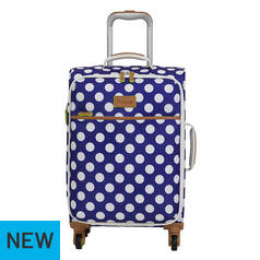 IT Luggage 4 Wheel Cabin Semi Expander Suitcase - Blue