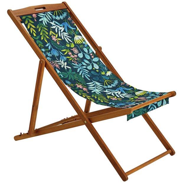 Buy Argos Home Wooden Deck Chair Rainforest Garden Chairs And Sun Loungers Argos