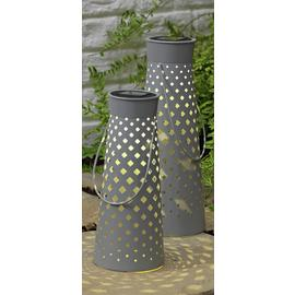 Argos Home Set of 2 Grey Metal Lanterns