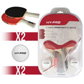 12c05d02b43 Hy-Pro 2 Bats and 2 Balls Table Tennis Set