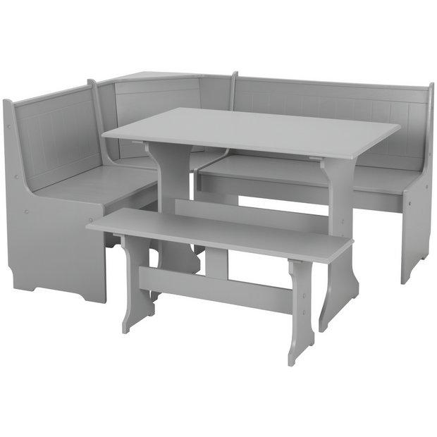 Buy Argos Home Haversham Corner Dining Set Bench Grey Dining Table And Chair Sets Argos