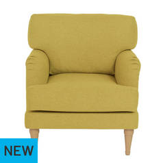 Argos Home Dune Fabric Armchair - Yellow