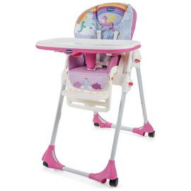 Chicco Polly Easy 4 Wheel Highchair - Unicorn