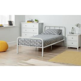 Argos Home Charlie White Single Bed & Kids Mattress