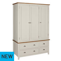 Argos Home Highbury Oak & Cream 3 Door 4 Drawer Wardrobe