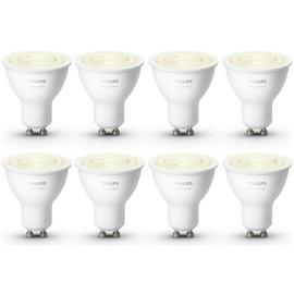 Philips Hue White GU10 Bulbs - 8 Pack