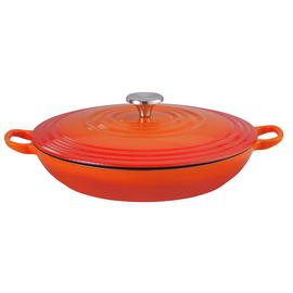Argos Home 3 Litre Cast Iron Casserole Dish - Orange