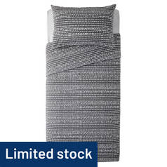Argos Home Stockholm Grey Dash Print Bedding Set - Single